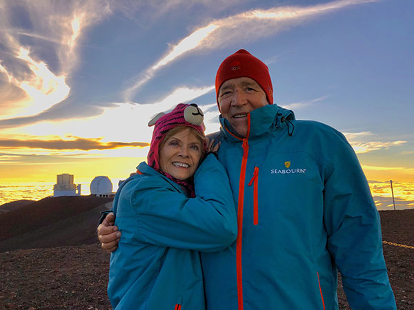 A Couple at Mauna Kea Summit